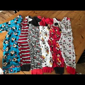 Lot of Mickey Mouse PJ sets